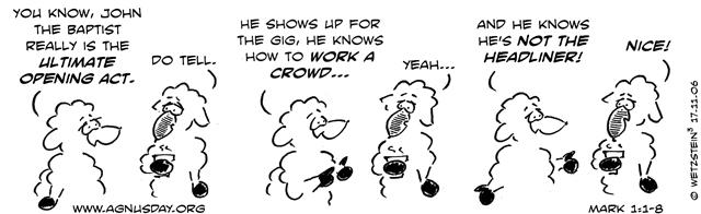 Mark 1 1 >> Agnusday Org The Lectionary Comic